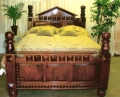 THE MAJESTIC MAHOGANY BEDS. - Product Image